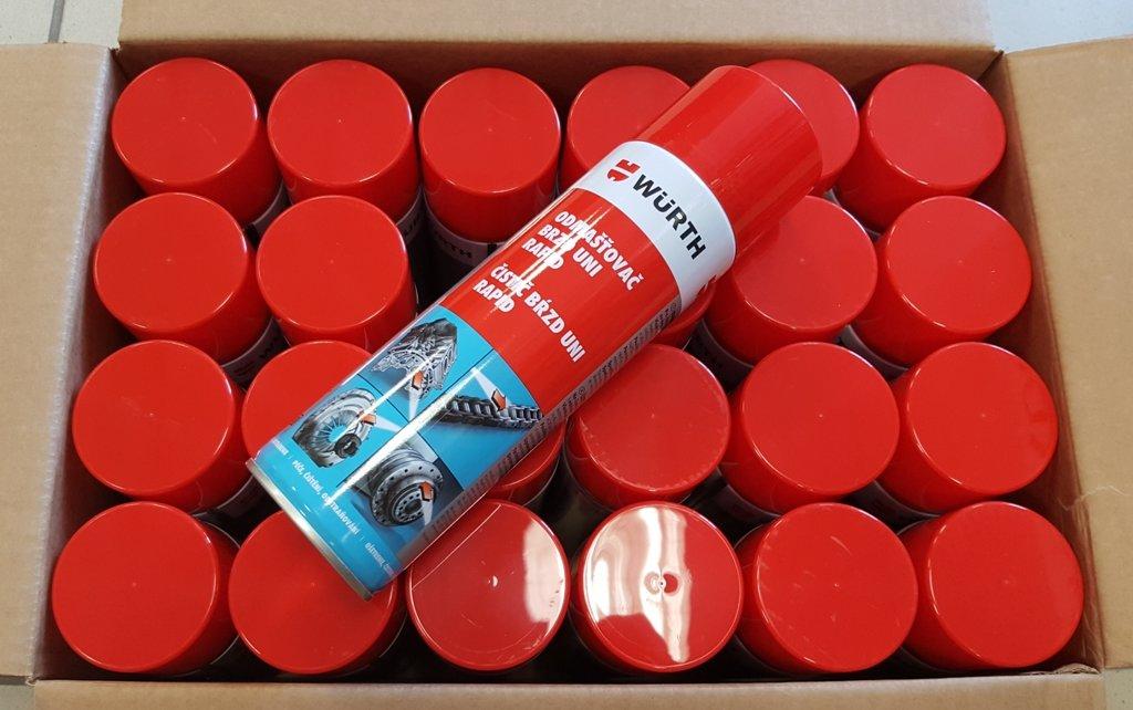 Čistič brzd 500 ml Wurth - balení 24 kusů