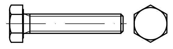 Šrouby 6hranné DIN 933, rozměr M10x60, stoupání závitu 1,5 mm, balení 4 kusy