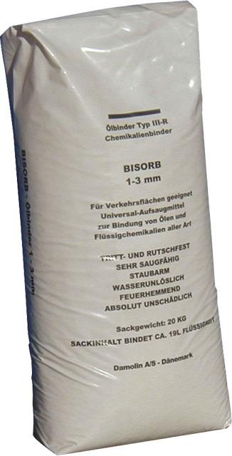 Sorbent Bisorb, granule 1 - 3 mm, pro olej a chemické produkty