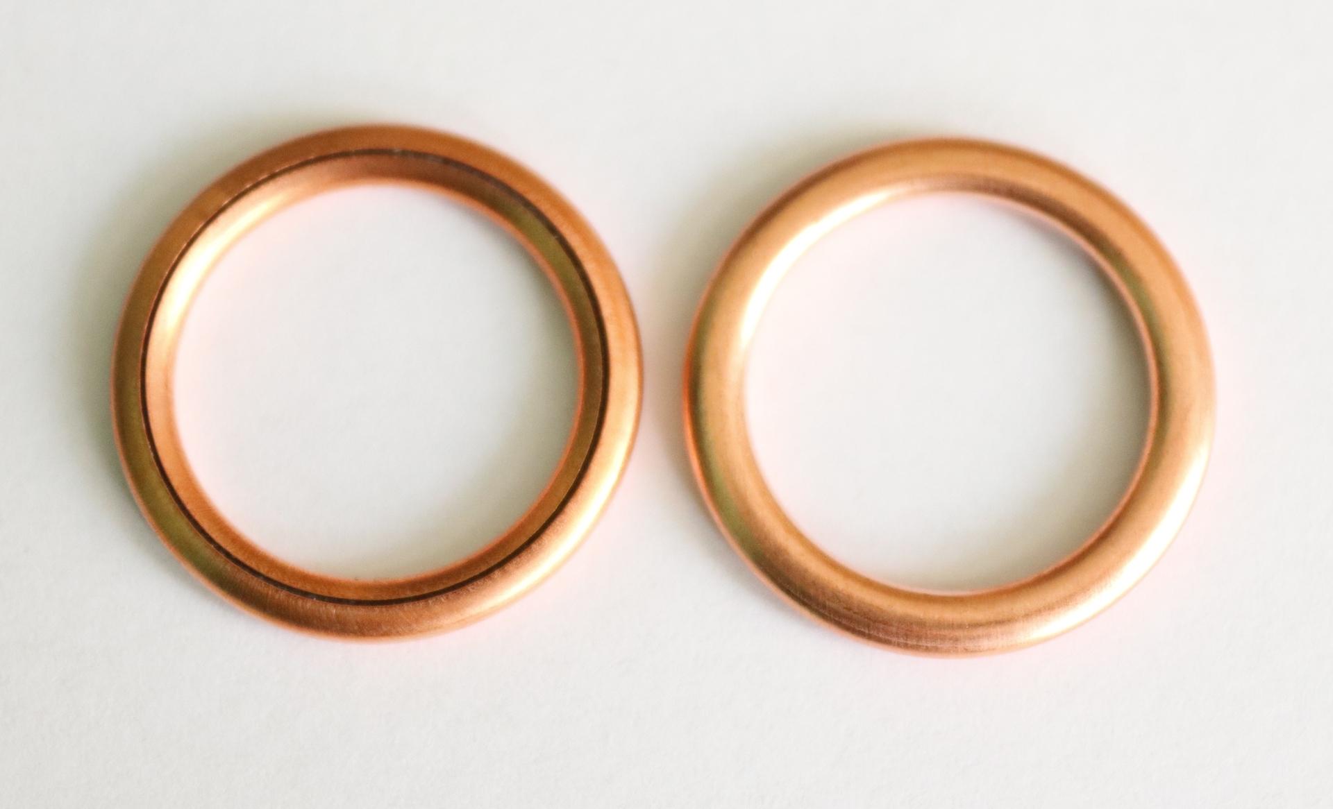 Těsnicí kroužek měděný, průměr 16/22 mm, tloušťka 2 mm, pro Citroen, Mercedes-Benz, Opel