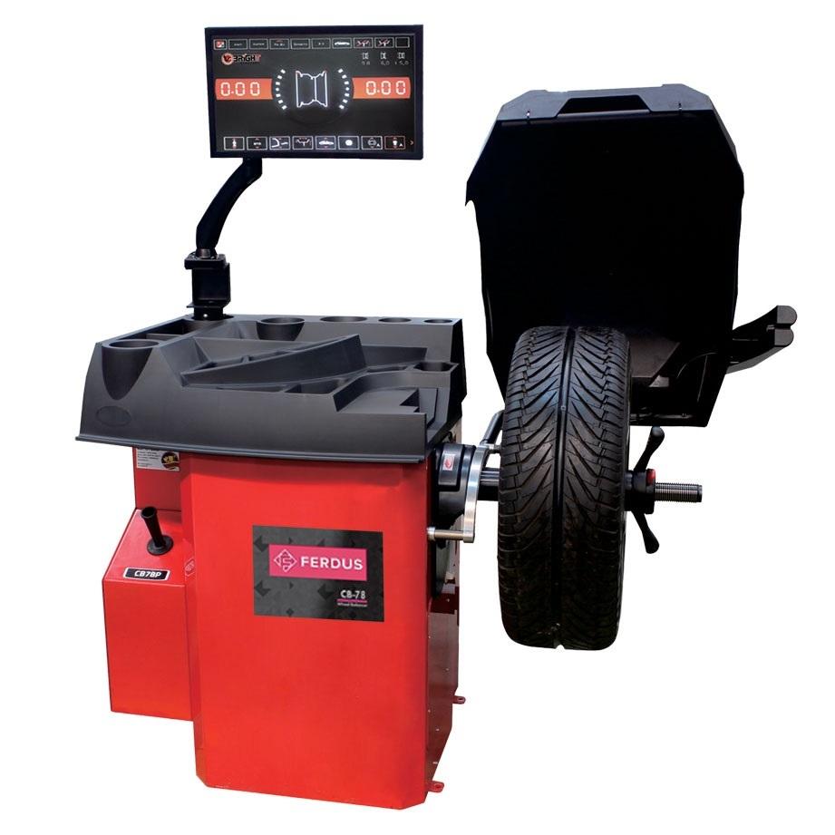 """Vyvažovačka automobilových kol CB78S Automat 3D, 10""""-28"""", dotykový displej, sonar, laser"""