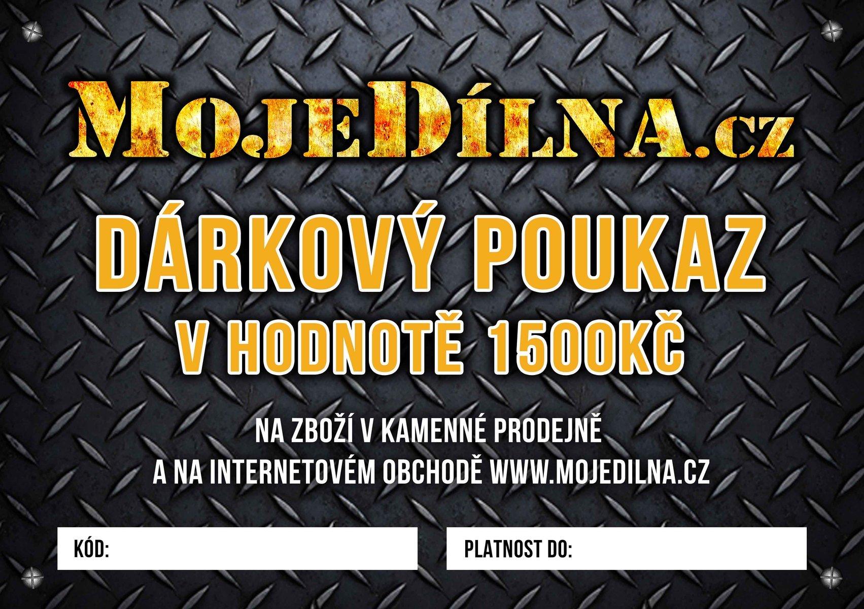 Dárkový poukaz MojeDílna.cz v hodnotě 1500 Kč - online, platba předem