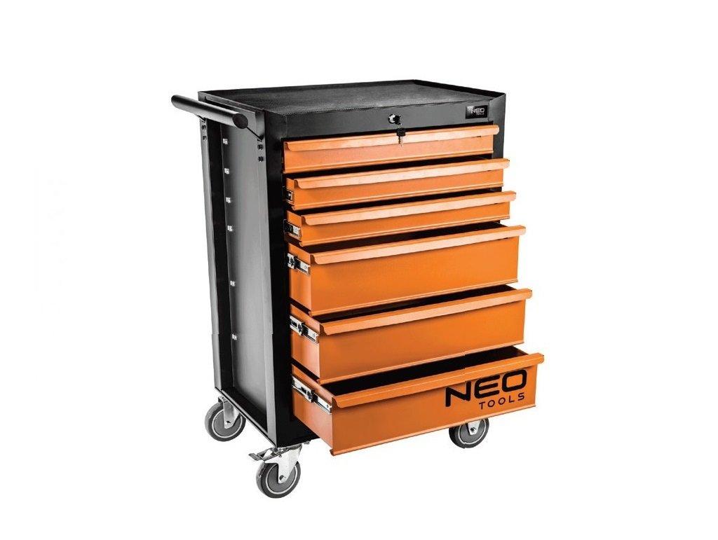 93a2257367723 Vybavený montážní vozík 6 zásuvek s nářadím Neo Tools