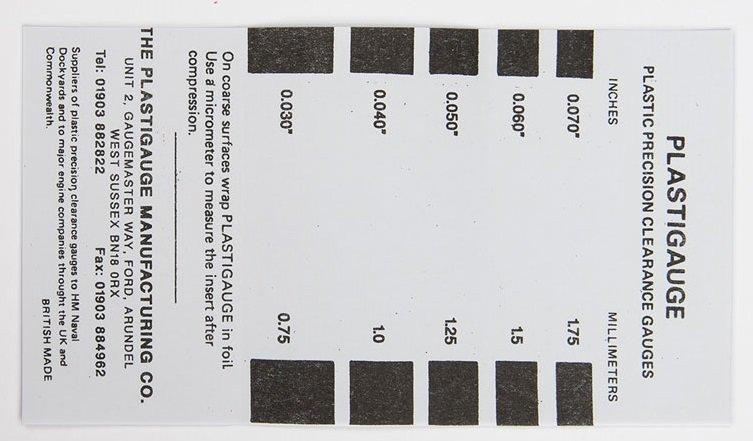 Plastigage 0,75-1,75 mm