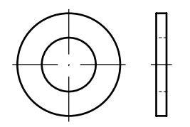 Podložky ploché DIN 125, rozměr M10, pro 6hranné šrouby, balení 20 kusů