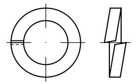 Podložky pružné DIN 7980 Zn, rozměr M5, balení 50 kusů