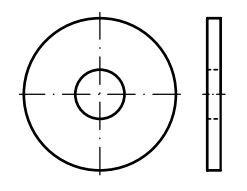 Podložky velkoplošné DIN 440, rozměr M10, pozinkované, balení 6 kusů