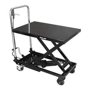 Pojízdný pracovní stůl zdvižný, nosnost 135 kg, s hydraulickým systémem