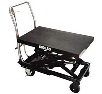 Pojízdný pracovní stůl zdvižný, nosnost 270 kg, s hydraulickým systémem
