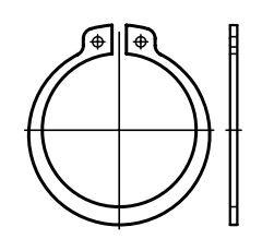 Pojistné kroužky na hřídele - vnější segrovky DIN 471, pro hřídel průměru 22 mm, 6 ks