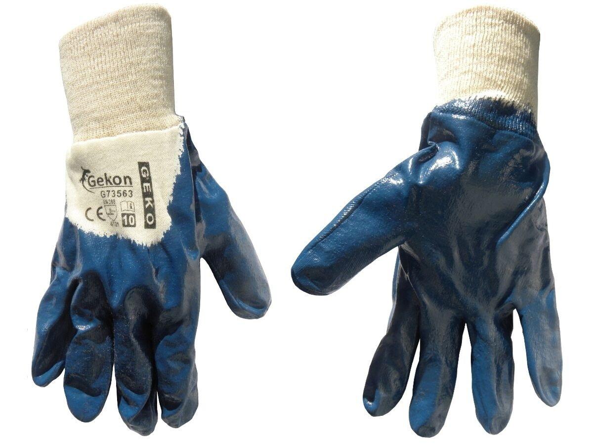 Pracovní rukavice GEKON, polomáčený nitril, velikost 10