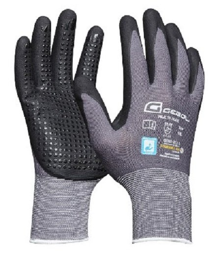 Pracovní rukavice MULTI FLEX, nylonové s nitrilovou dlaní, velikost 8