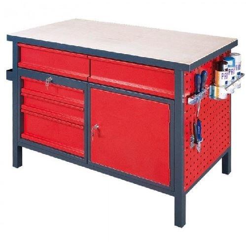 Pracovní stůl s uzamykatelnou skříňkou a zásuvkami