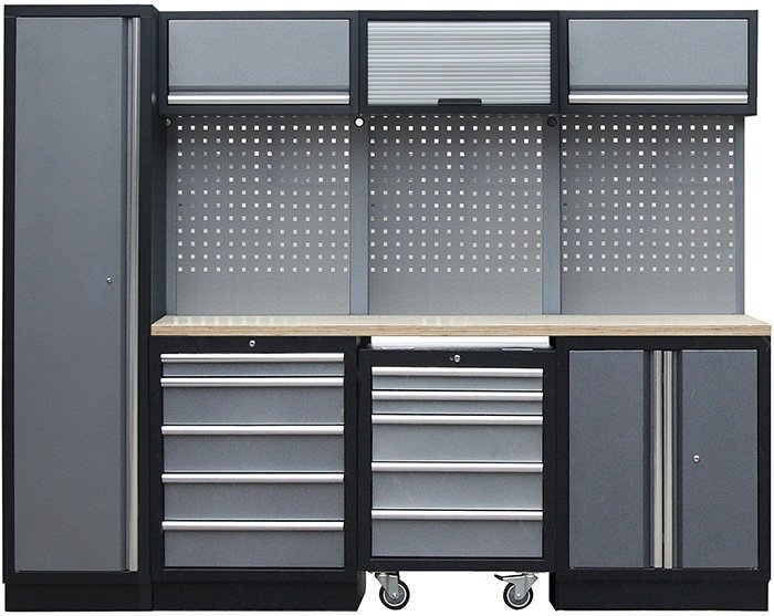Sestava kovového dílenského nábytku PROFI PRESTIGE COMBI 2 - Genborx