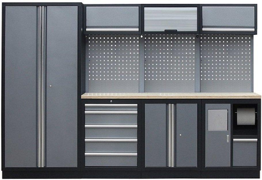 Sestava kovového dílenského nábytku PROFI PRESTIGE COMBI 3 - Genborx