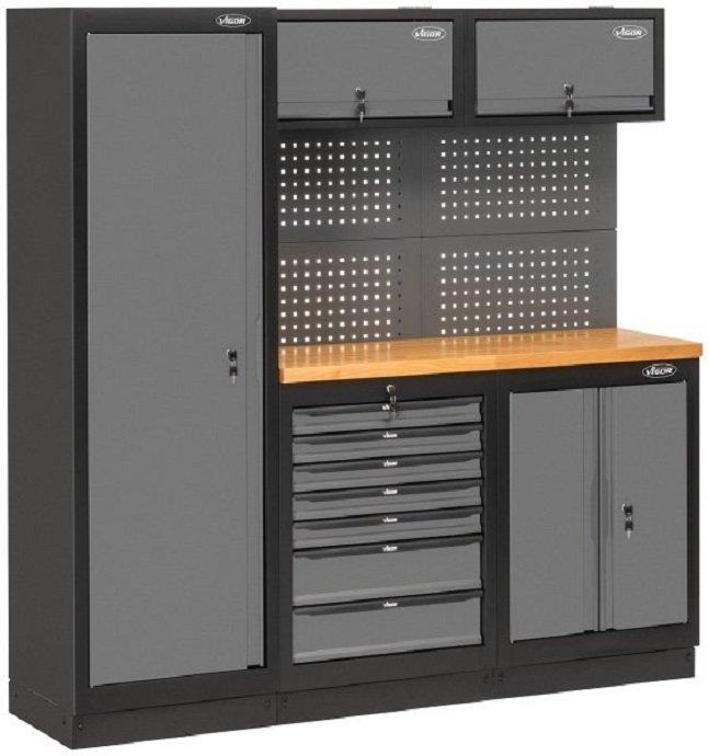 Sestava kovového dílenského nábytku Vigor V6000-3
