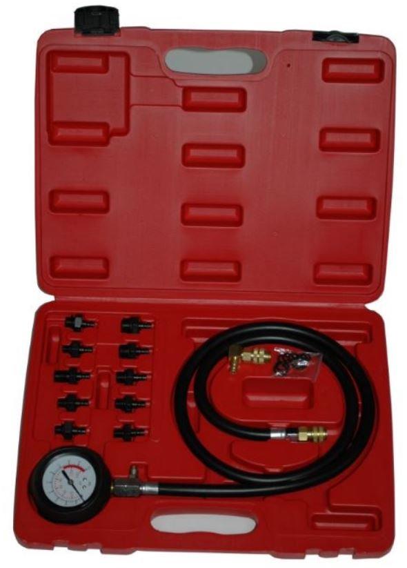Tester tlaku motorového oleje, 0 - 10 bar, profesionální sada