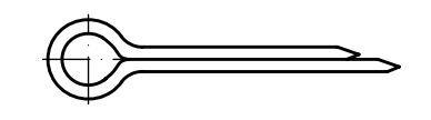 Závlačky DIN 94 Zn, rozměr 2,5x36, balení 10 kusů