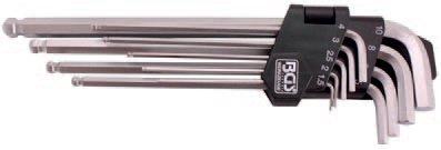 Klíče imbus, s kuličkou (9ks)- BGS 790