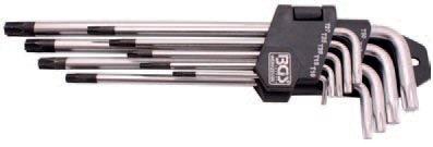 Sada klíčů Torx s otvorem (9ks)- BGS