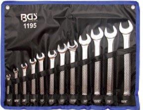 Sada očkoplochých palcových klíčů (12ks) BGS  1195