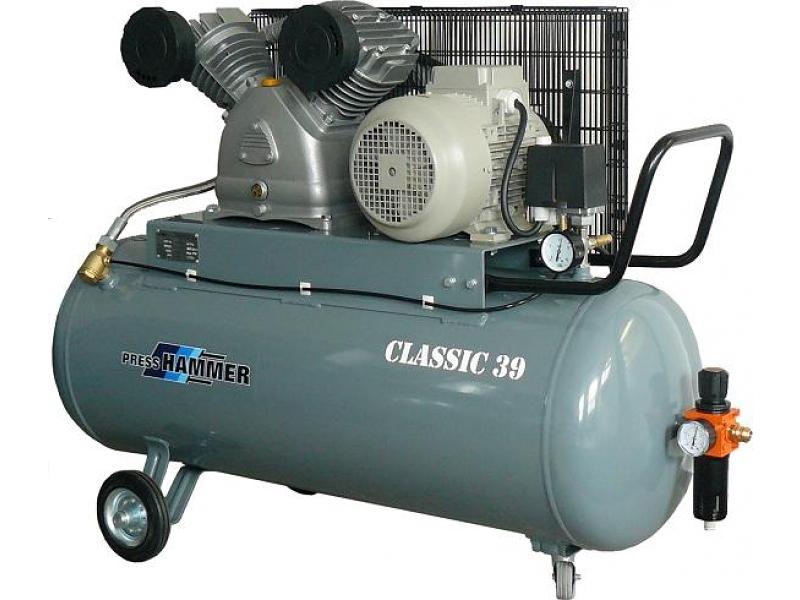 Pístový kompresor 150l 4kw- PRESS-HAMMER Classic 39/150