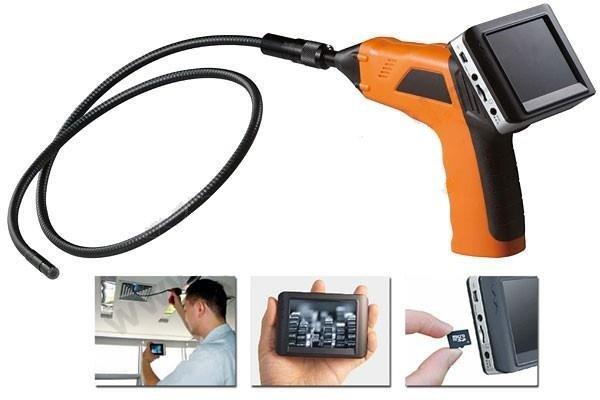 Inspekční endoskop s kamerou, monitorem a záznamem