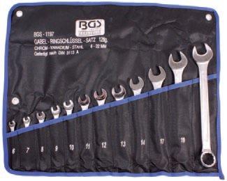 Klíče očkoploché 12 ks, 6-22mm, v tašce- BGS 1197