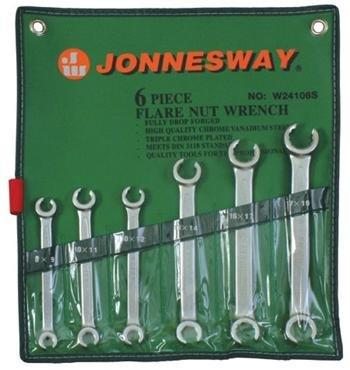 Sada klíčů na převlečné matice 8-19mm 6ks JONNESWAY W24106S