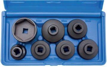Hlavice na povolování olejových filtrů 7ks BGS 8377