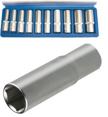 "Hlavice 6-hranné prodloužené 1/2"" 10-24mm 10ks SW-Stahl"