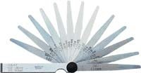 Ventilové (spárové) měrky 6 listů 0,10-0,40 mm