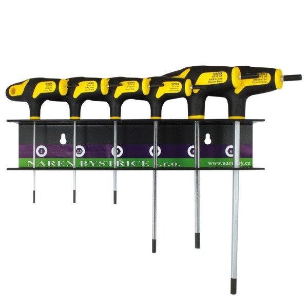 Sada zástrčných klíčů imbus H2-H6 6-dílná v závěsu - Narex Bystřice 851101