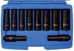 "Hlavice 1/2"" nástrčné prodloužené tvrzené 10-24mm CrMo - BGS 5206"