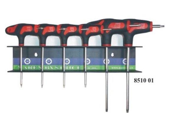 Sada zástrčných klíčů Torx T10-T30 6-dílná v závěsu - Narex Bystřice 851001