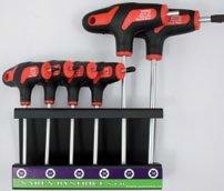 Sada zástrčných klíčů Torx T10-T30 6-dílná ve stojánku - Narex Bystřice 851002