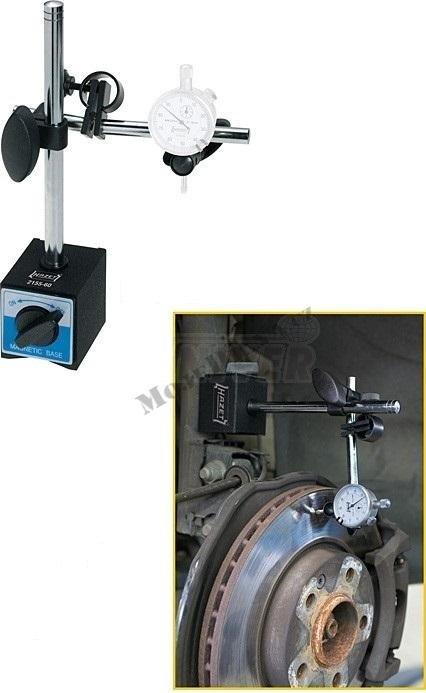 Magnetický držák pro indikátor házivosti brzdových kotoučů - Hazet