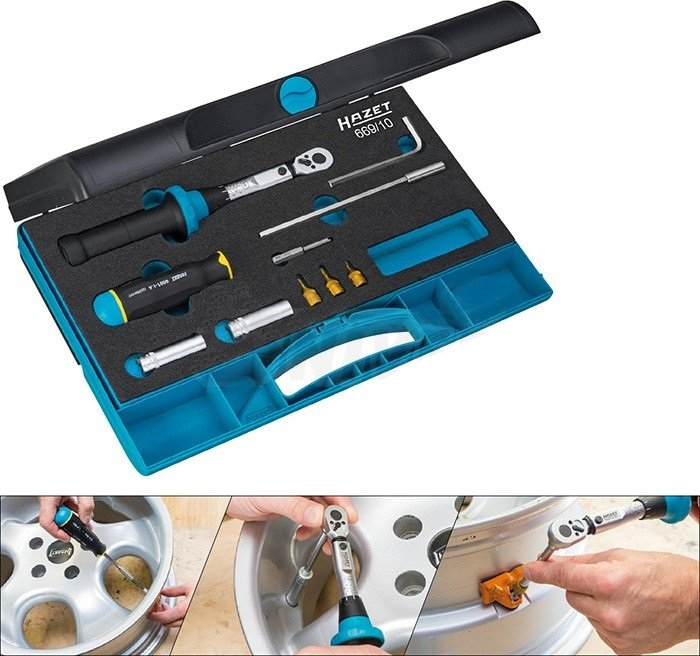Sada nářadí na snímače tlaku v pneumatikách - HAZET