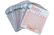 Zapisovací/registrační štítky 10-60 bar (100 ks) pro kompres. MotoMeter Diesel