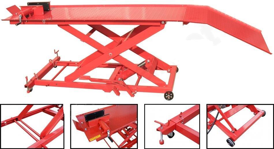 Nůžkový hydraulický pojízdný plošinový zvedák ZD04104