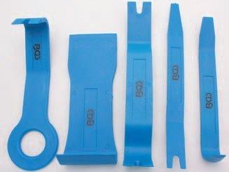 Klíny / páky montážní, plastové na čalounění, tapecír 5 dílů - BGS 3027