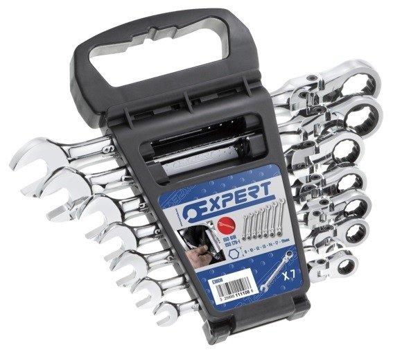 7dílná sada kloubových ráčnových očkoplochých klíčů E111108T - Tona Expert