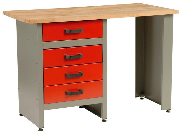 Dílenský stůl, 4 x zásuvka, 120x60x84cm - MARS 4803