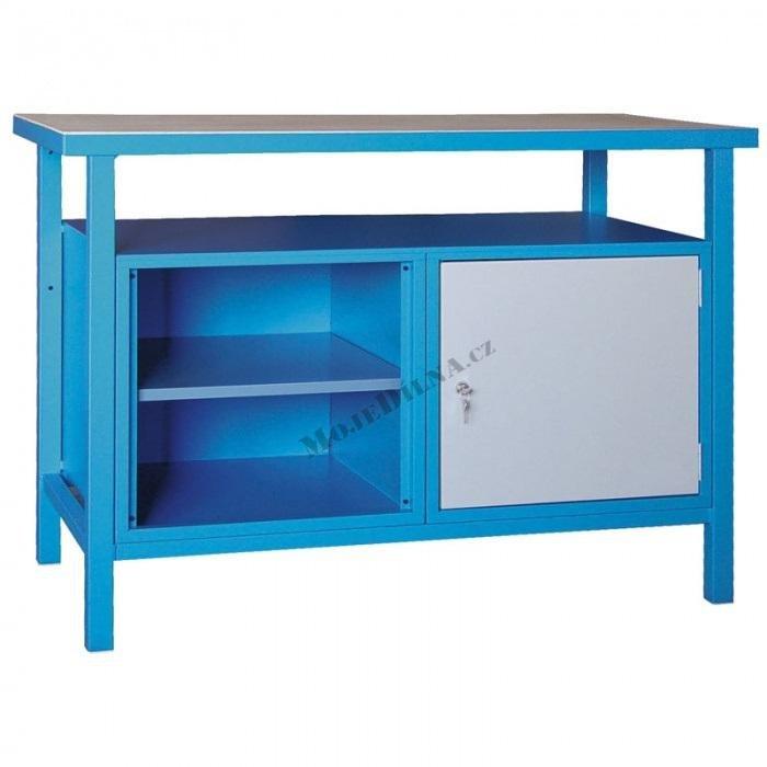 Pracovní stůl  1200x600x850mm, skříňka + police