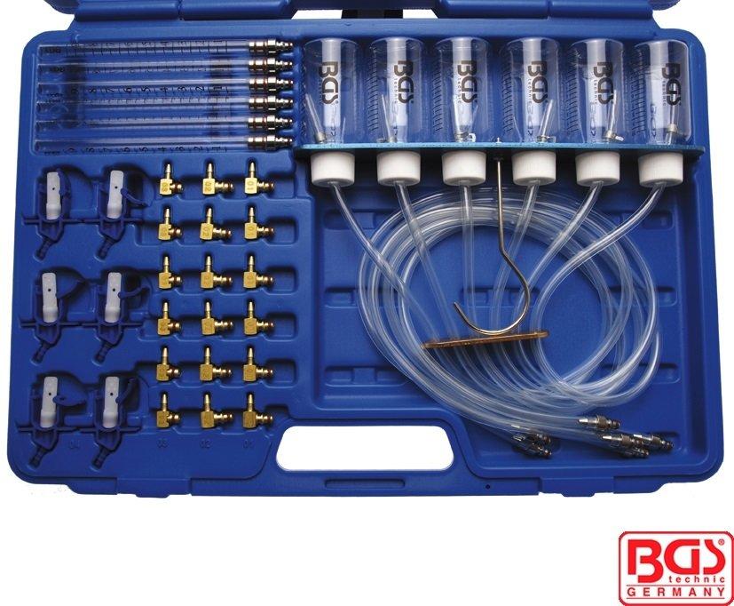 Sada pro měření průtoku paliva vstřikovacími tryskami Common Rail s adaptéry