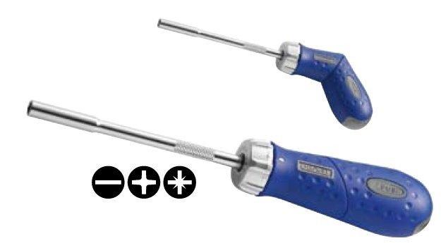 Šroubovák ráčnový vícebitový - Tona Expert (E160802T)