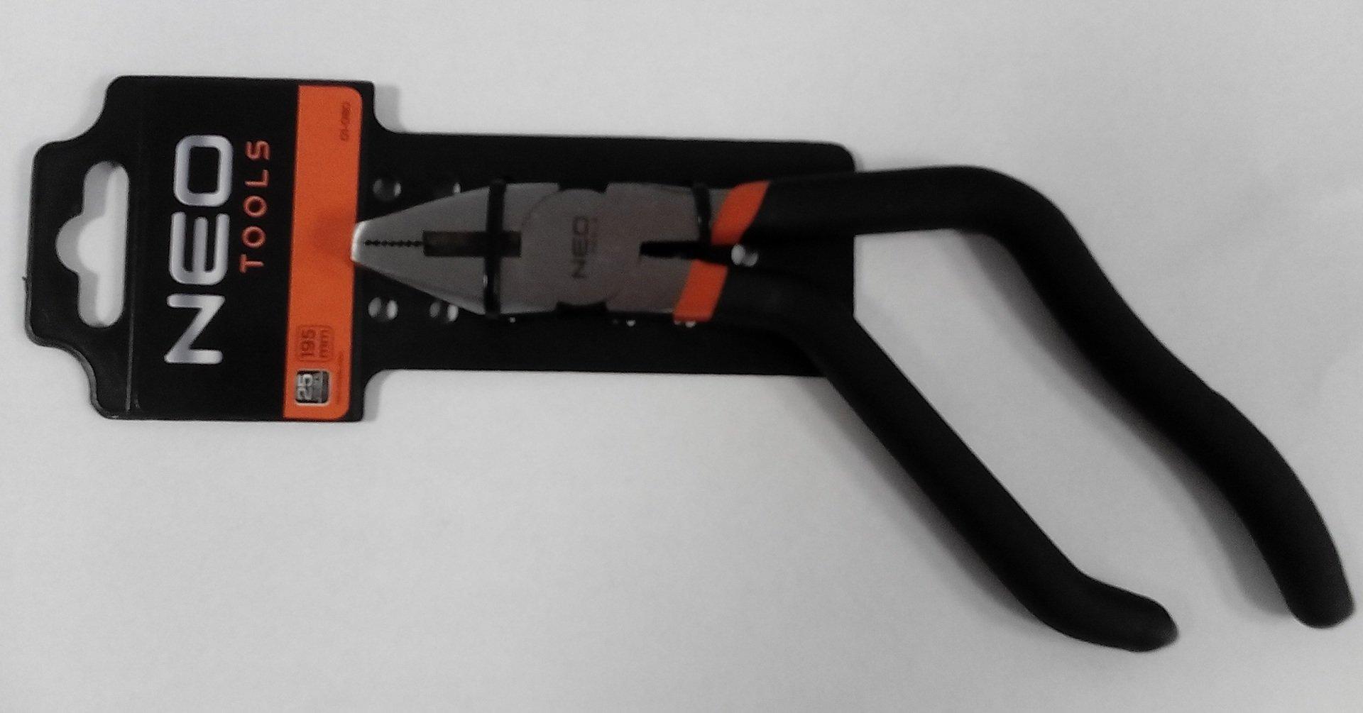 kleště kombi 195mm, vyhlé rukojetě NEO tools