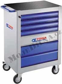7 zásuvková montážní skříň - 3 moduly na zásuvku; 61,5kg - Tona Expert E010105T