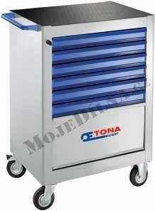7zásuvková montážní skříň - 3 moduly na zásuvku; 67,0kg - Tona Expert E010130T