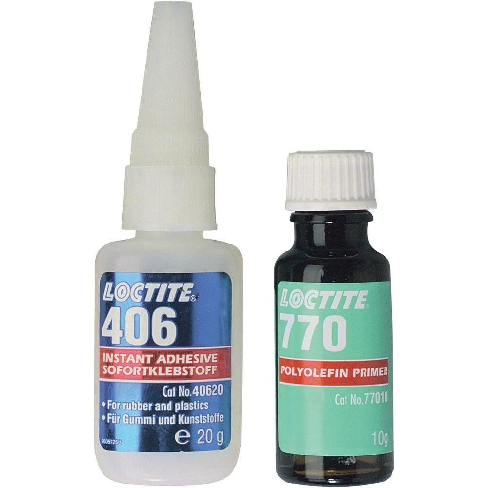 Lepidlo na umělé hmoty Loctite 406 / 770 Polyolefin sada